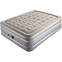 Sable Inflatable Air Bed Double Size Air Mattress with Built-in Electric Pump - 203 x 152 x 48 cm