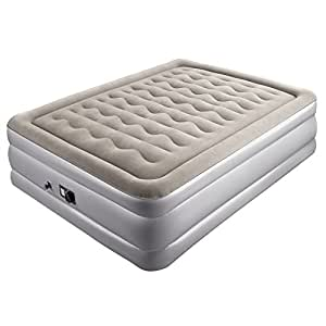 Sable Queen Size Inflatable Bed Double Size Air Beds Inflatable Mattress with Built-in Electric Pump and Repair Kit - 203 x 152 x 48 cm