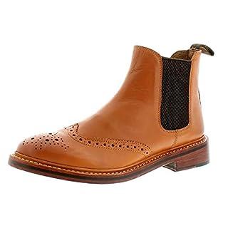 Wynsors Alton Mens Leather Formal Boots Tan - Tan - UK Size 11