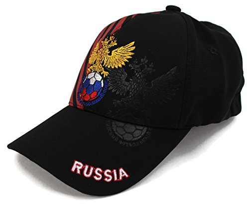 High End Hüte World Soccer/Fußball Team Hat Collection Baseball Cap Flexfit Hat, Russia Maroon