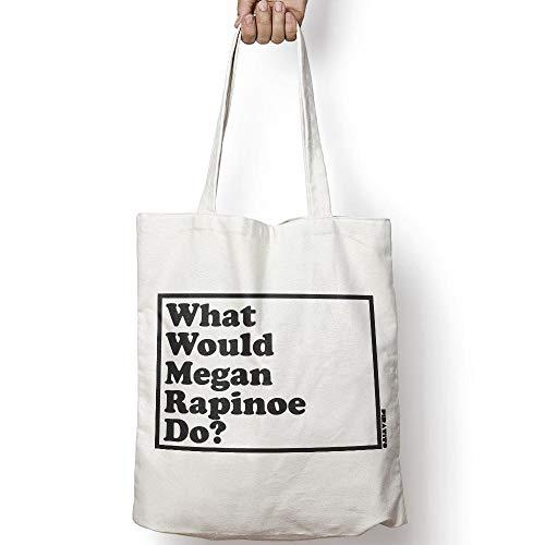 WHAT WOULD MEGAN RAPINOE DO? leinentasche aus natürlicher baumwolle -