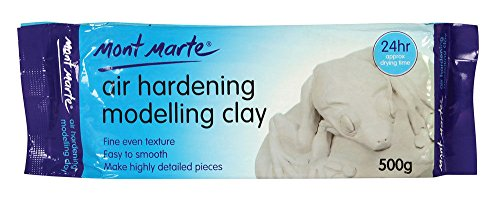 Kabeer Art Modelling Clay Air Hardening White 1 Pack 500 Gms , Ideal Choice For Professional Artists Or Students.