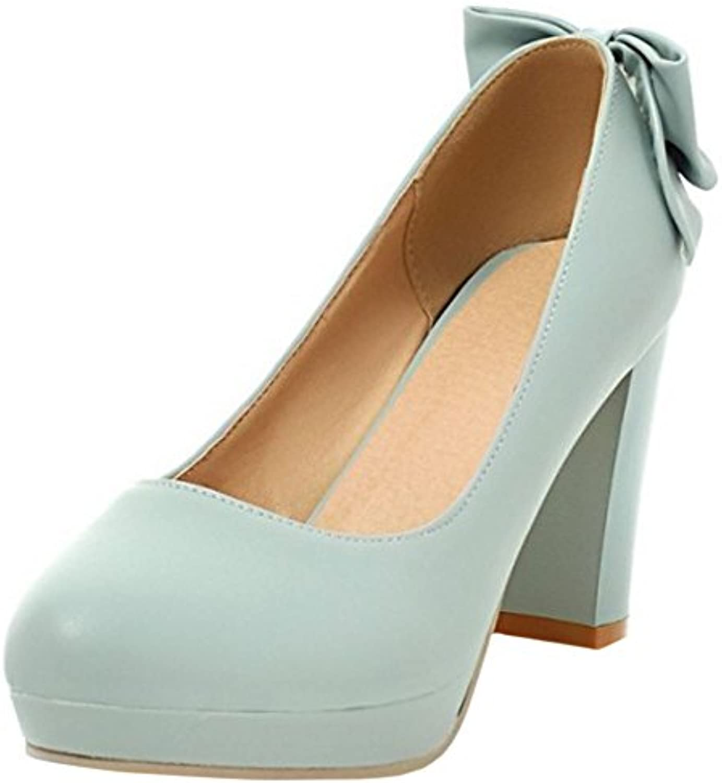 Zanpa Mujer Sweet Tacon Zapatos Plataforma Pumps Mini Tamanos -