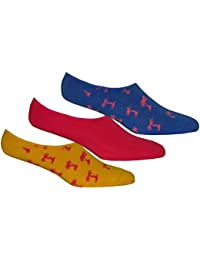 Calcetines De Happy Socks 3-pack Palm Beach Los Hombres Entrenador, Azul/amarillo