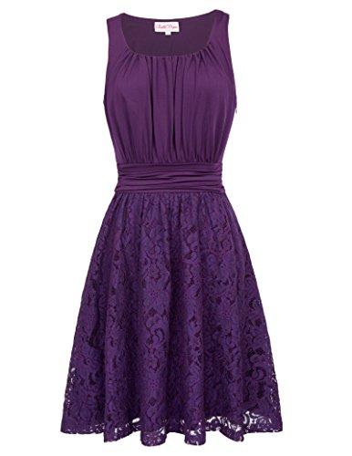 Frauen Elegant Partykleid Festliches Cocktailkleid Knielang Freizeit Kleid Swing Petticoat Kleid...