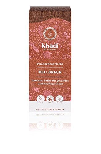Khadi Pflanzen-Haarfarbe natürliches Hellbraun 100g I Natur-Haarfarbe enthält Indigo, Henna und...
