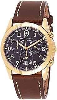 Victorinox Swiss Army Mens Quartz Watch, Analog Display and Leather Strap - 241647