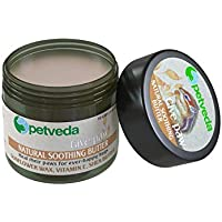P E T V E D A No SLES and Paraben Shea Butter, Kokum Butter and Beeswax Enriched Natural Soothing Balm for Paw, Nose and Elbow for Dogs and Cats, 30 g