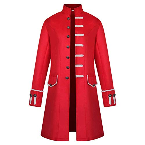 Kostüm Katalog - iYmitz Damen Herren Mantel Frack Jacke Gothic Gehrock Uniform Kostüm Praty Outwear