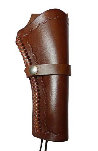 Westernholster Rechts oder Links braun Handarbeit Rindsleder Peacemaker Colt (Rechtshänder)