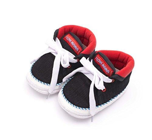 Infano Laces Style Love Print Black Color Baby Shoes (6-12 months,1 Pair)