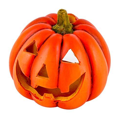 (Dadeldo-Home Kürbis Deko-Objekt Herbst Halloween Keramik Orange (9x8x8cm))