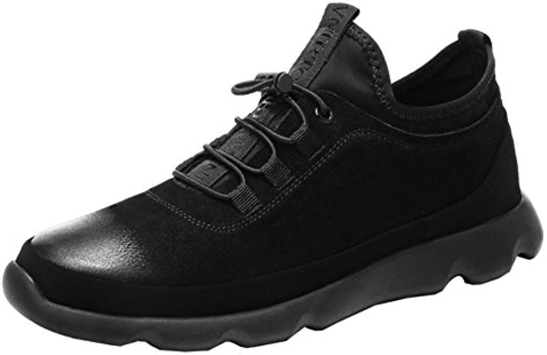 XUE Herren Sportschuhe  Leder  Fruumlhling Herbst  Comfort Low Top Sneakers  Atmungsaktive Laufschuhe  Schnuumlrschuh
