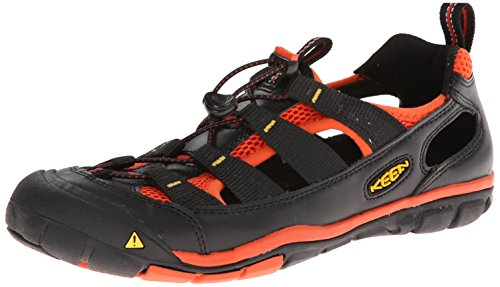 Keen Gallatin CNX, Sandali sportivi uomo Nero Black / Red Clay Nero (Black / Red Clay)