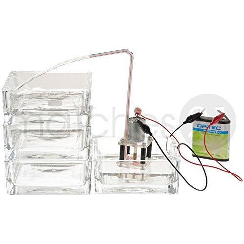 matches21 Funktionsmodell Wasserpumpe 4,2x4,2x8 cm Bausatz f. Kinder Werkset Bastelset ab 13 Jahren