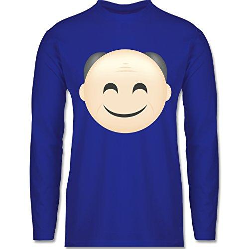 Shirtracer Opa - Opa Emoji - Herren Langarmshirt Royalblau