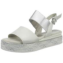 MARCO TOZZI 2-2-28743-24, Sandali con Cinturino alla Caviglia Donna, Bianco (White Comb 197), 40 EU