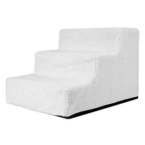 Amzdeal Easy Step Hundetreppe, 45 x 35 x 30 cm, Belastbarkeit,15kgin Weiß