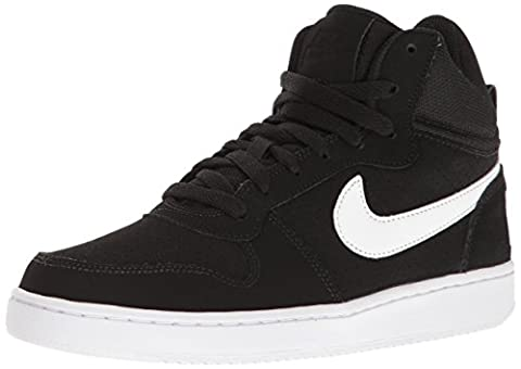 Nike Wmns Court Borough Mid, Chaussures de Sport-Basketball Fille, Blanco (Blanco (black/white)), 36.5 EU