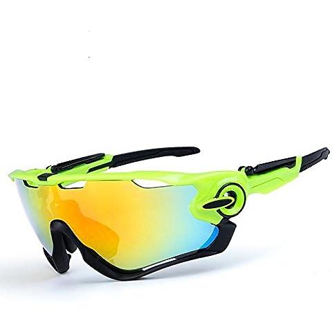 OPEL-R Conducción al aire libre polarizado deporte ocio material playa gafas de sol/gafas de gafas/PC, contiene cinco variedad de lentes de decoración , 12subsection