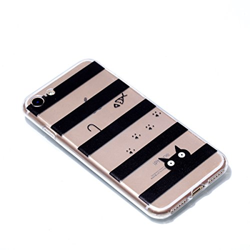 Cover iphone 7 / iphone 8 , iphone 7 / iphone 8 custodia , Cozy Hut iphone 7 / iphone 8 cover Morbido TPU Custodia [Ultra sottile] [Leggera] [Assorbimento-Urto] Paraurti in TPU Morbida Protettiva Case Il gatto