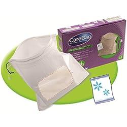 Carebag Kit da viaggio (pacchetto di 3sacchetti per il mal d'auto con tampone super assorbente + 3 salviette rinfrescanti e detergenti)