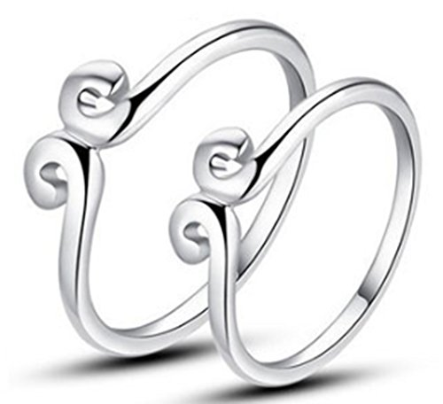 SaySure - 1 piece of 925 Sterling Pure Silver Love you (SIZE : 7)