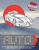 Divertente libro da colorare per bambino - Auto. Più di 200 auto: BMW, Jeep, Chrysler, Mitsubishi, Fiat, Renault e altri. Libri da colorare Kawaii per uomo