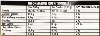 Heudebert Les Crackers Blé Complet 250 g