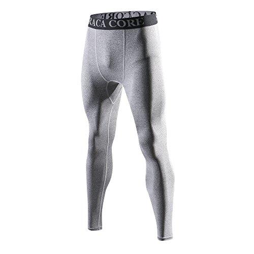 Saraca Core Männer lang Unterhose Unterwäsche Strumpfhose Herren Kompressions Leggings Pants Hosen(Grau, XL)