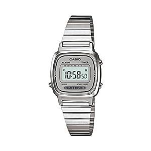 CASIO Reloj Digital para Mujer de Automático con Correa en Acero Inoxidable