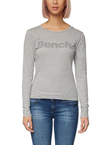 Bench Damen Longsleeve Longsleeve, Mid Grey Marl, S, BLGA3201