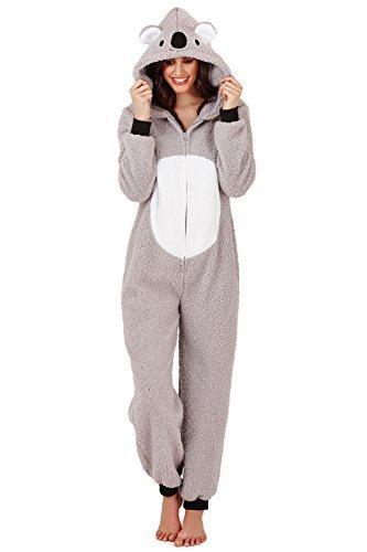 Combinaison Femme Loungeable Pyjama Pour Femmes 3D Oreilles Pyjama Tout En Un - Kiki le koala, S - 36-38