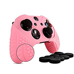 Chinfai Xbox One Controller Silikon Skin Case Anti-Rutsch Schutz Grip Cover für Xbox 1 mit Thumbstick Caps Set