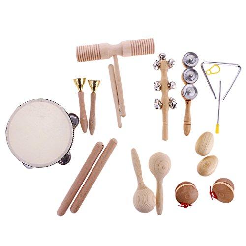 MagiDeal Set 10 Piezas Juguete Instrumentos Percusión