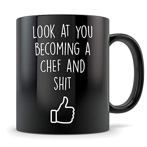 Future Chef Gifts New Culinary Arts Graduation Mug Coffee Cup for Men and Women Student Red Seal Class of 2018 Funny Grad Degree Congratulations Red Seal Chef