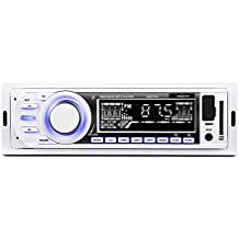 oneConcept MD-185 Radio para coche MP3 USB SD FM AUX blanco