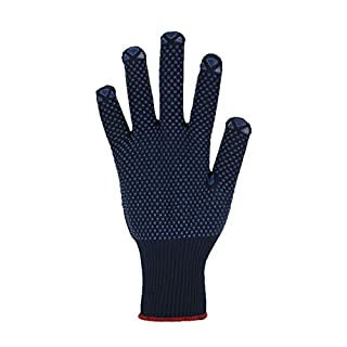 Asatex 36882XL11Fine Knit Gloves with Polka Dot Benoppung and Knitted Wrist, Blue, size 11