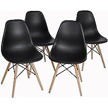 ArtDesign FR Chaises De Style Eames Pieds Base En Bois Htre Naturel