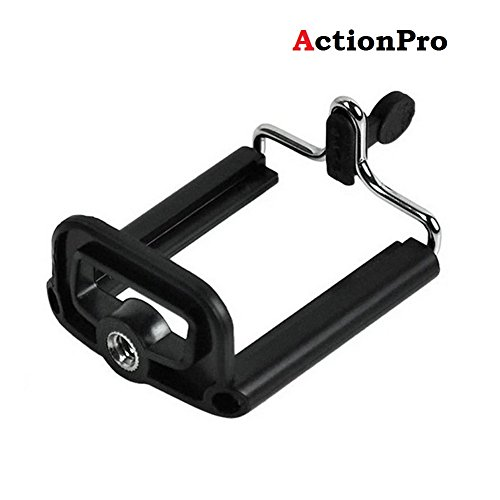 Action Pro Tripod Mount Adapter, Walway Universal Cell Phone Clip Holder Camera Bracket Smartphone Attachment for iPhone 8/ 8 Plus/ 7/ 7 Plus/ 6/ 6S/ 6 Plus/ 5/ 5S/ 5C Samsung Galaxy S7 S6 S5 S4 S3 S2 and More