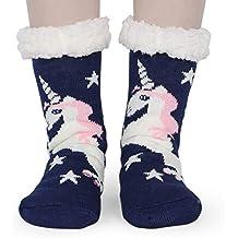 Tacobear Mujeres Gruesos lana calcetines de piso casa abrigados animal calcetines de mujeres antideslizantes calcetines de