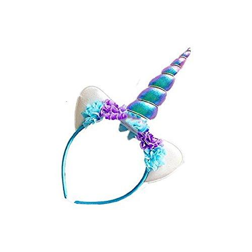Shangrui Prinzessin Spiral Horn Partei Kopfschmuck Mit Ohren Und Blumen Für Kinder und Erwachsene Cosplay (Schwester Guter Und Kostüme Bruder)