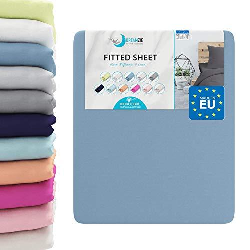¿Deseas una sábana ajustable que sea suave y que dé color a tu habitación? ¡Las sábanas bajeras Dreamzie están hechas para ti!Una suavidad incomparable  Cada sábana ajustable adulto y niño está hecha con un tejido en microfibra (100% poliéster) para ...