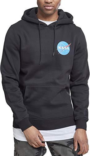 Mister Tee Herren NASA Small Insignia Hoodie - Männer Streetwear Kapuzenpullover, Black, Größe L