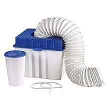 Xavax 00111341 Kit serbatoio di scarico di condensa e tubo flessibile per asciugatrici a scarico d'aria, colore blu / bianco