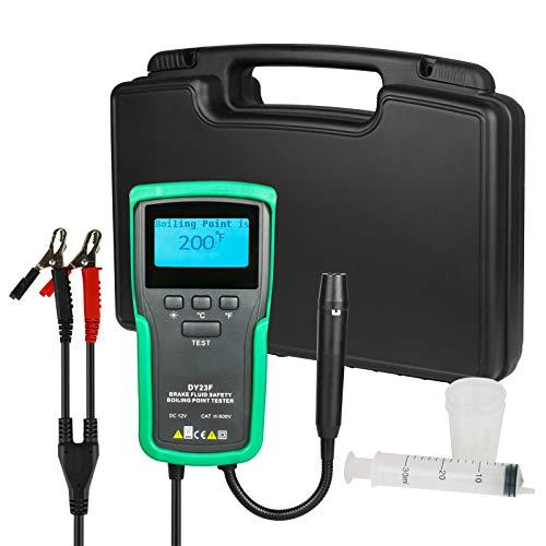 BELEY Kfz Bremsflüssigkeitstester, Hochpräzise Bremsflüssigkeit Siedepunkt-Tester für DOT3 DOT4 DOT5 DOT5 DOT5.1 SUPER DOT4 Bremsflüssigkeitsdetektor