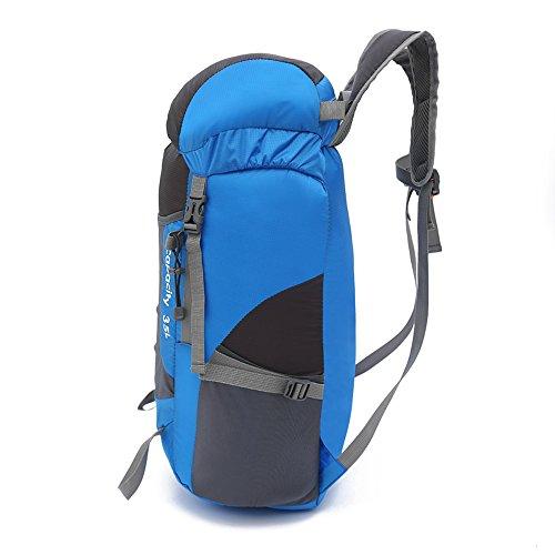Techway Langlebig Packable leicht faltbar Rucksack Wandern Reise Rucksäcke Tagesrucksack Blau