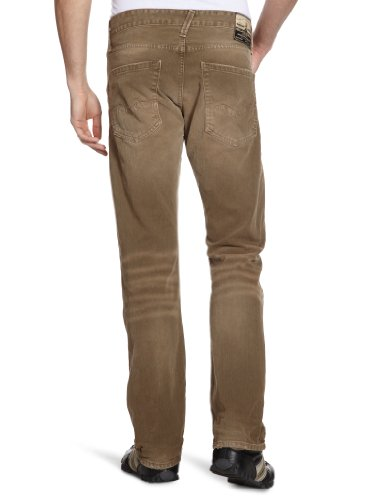 Replay - Jeans Droit - Homme Marron (light brown 695)