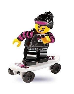 LEGO 8827 - Minifigur Skateboard-Fahrerin aus Sammelfiguren-Serie 6