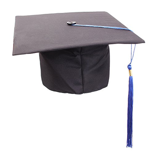 F Fityle Premium Doktorhut Doktorand mit Quaste Bachelorhut -